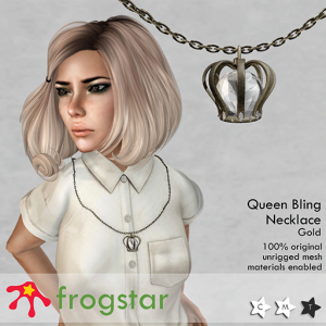 Frogstar - Queen Bling Necklace Poster (Gold)