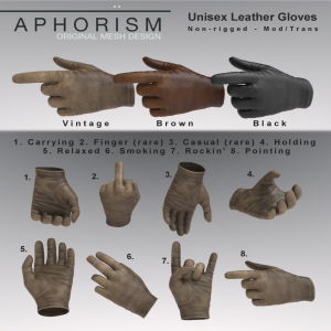 !APHORISM! LEATHER GLOVE GACHA KEY