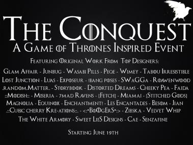 Conquest event poster