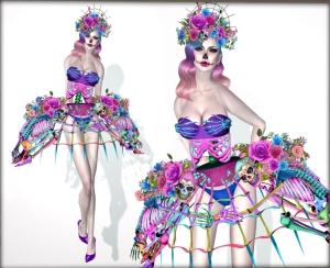 Boudoir catrina dress