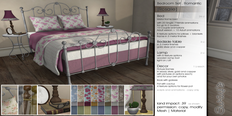 Sway's [Rosalie] Bedroom Set . romantic _ PG 3_2