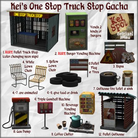 Kei's One Stop Truck Stop Gacha Key