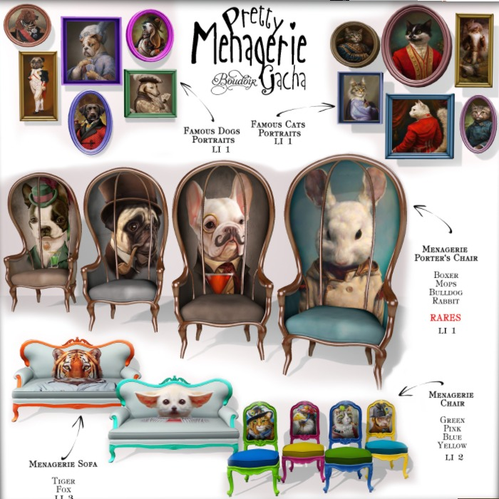 boudoir menagerie collection
