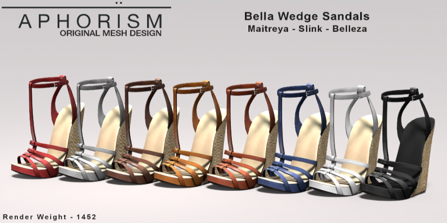 !APHORISM! Bella Wedge Sandals Collection