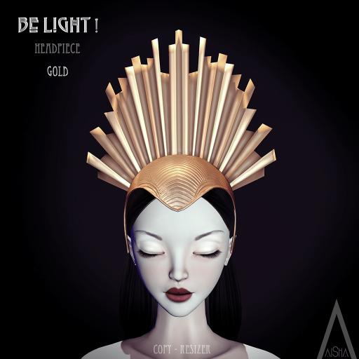 AiShA Be Light Headpiece Gold