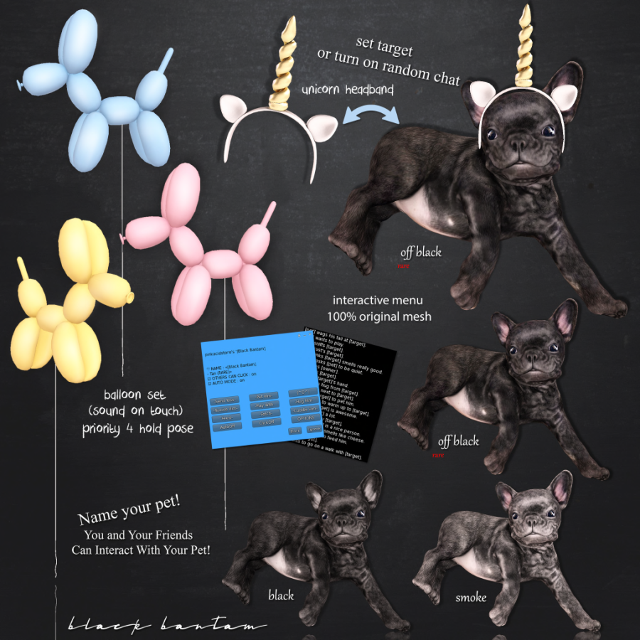 Black Bantam] Lil Puppy Chief Unicorn Gacha Key