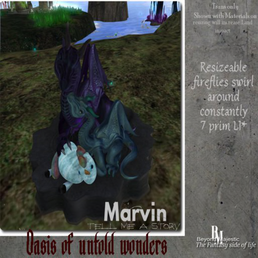 BM Oasis of untold wonders Tell me a story Marvin