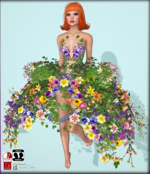 boudoir baroque flower skirt