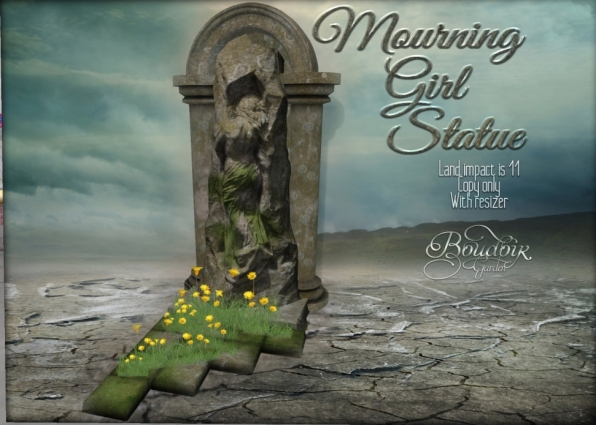 boudoir mourning girl statue