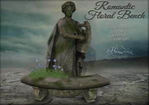 boudoir romantic floral bench