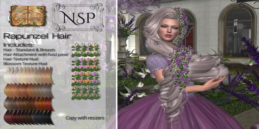 NSP Rapunzel Hair - Naturals Relaxed