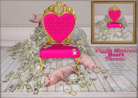 Boudoir's piggies and money