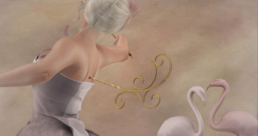 Flamingo Queen Doll Key