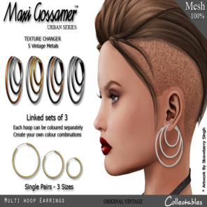 MG - Earrings - Multi Hoops