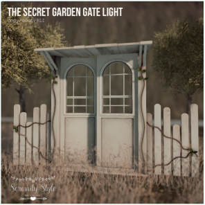 Serenity Style- The Secret Garden Gate Light