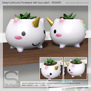 Sway's [Unicorn] Flowerpot with Succulent - REWARD (1024)