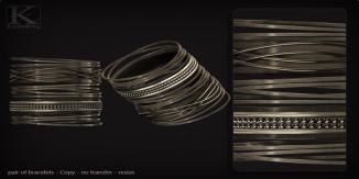 (Kunglers) melissa bracelets AD silver