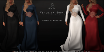 just because veronica gown